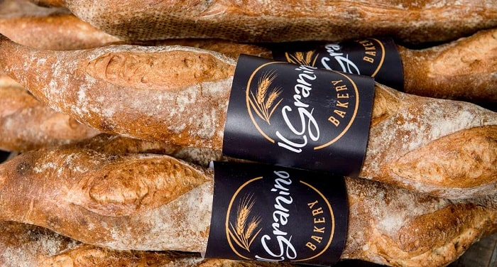 Closed-up of baguettes made by IL Granino Bakery, Perth.